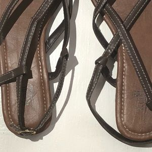 e04e59561ac5df Kali Shoes - Kalli Size 11 Brown Strappy Flat Sandals